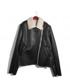 SUB-AGE.(サベージ)の古着「フェイクムートンライダースジャケット」|ブラック