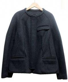 ISABEL MARANT(イザベルマラン)の古着「ウール混ノーカラージャケット」|グレー