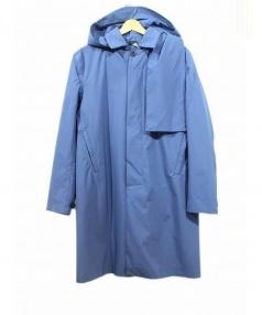 Norwegian Rain(ノルウェージャンレイン)の古着「Geneve Homme フーデッドコート」|ブルー