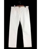 THE ROW(ザ ロウ)の古着「 ストレッチテーパードパンツ」|ホワイト