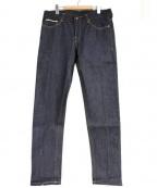 CareLabel(ケアレーベル)の古着「セルビッジデニムパンツ」|インディゴ