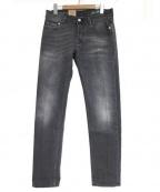 CareLabel(ケアレーベル)の古着「12ozデニムパンツ」|ブラック