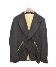 COMME des GARCONS(コムデギャルソン)の古着「ジャガードカモ柄縮絨ジャケット」|ブラック