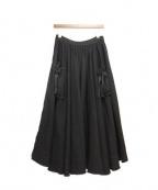 TAO COMME des GARCONS(タオ コムデギャルソン)の古着「サイドジップカットオフスカート」|ブラック