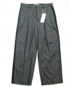 SARAH&BRED(サラアンドブレット)の古着「PINSTRIPEDWOOLPANTS」|グレー