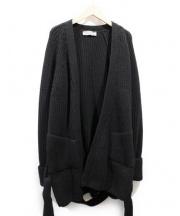 CHRISTOPHE LEMAIRE(クリストフルメール)の古着「ベルト付カーディガン」|ブラック