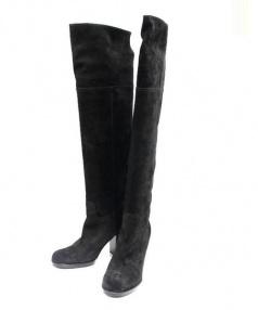 PELLICO(ペリーコ)の古着「スウェードロングブーツ」 ブラック