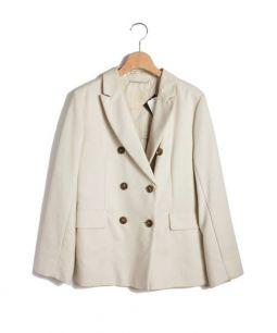 MaxMara(マックスマーラ)の古着「 Wテーラードジャケット」|アイボリー