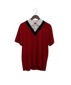 MONCLER GAMME BLEU(モンクレール ガム ブルー)の古着「ポロシャツ」|レッド
