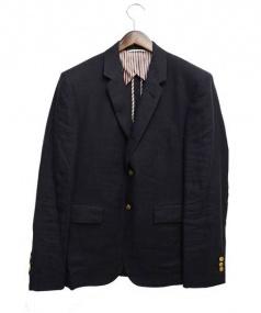THOM BROWNE(トム ブラウン)の古着「リネンテーラードジャケット」|ネイビー