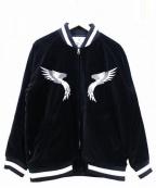 NITRAID(ナイトレイド)の古着「刺繍ベロアジャケット」 ブラック