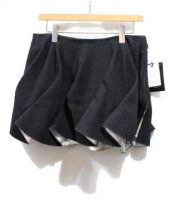 UNDERCOVER(アンダーカバー)の古着「変形プリーツボリュームスカート」 ブラック