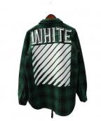 OFF WHITE(オフホワイト)の古着「ヘビーネルシャツ」|グリーン