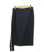 N°21(ヌメロ ヴェントゥーノ)の古着「ビジュータイトスカート」|ブラック