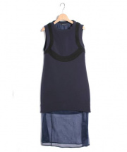 NEIL BARRETT(ニールバレット)の古着「 ボンディングロングワンピース」|ネイビー