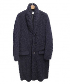 Julien David(ジュリアンデイヴィッド)の古着「wavy knitted dobby wool coat/ニ」|ネイビー