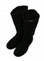 ANN DEMEULEMEESTER(アンドゥムルメステール)の古着「スエードペコスブーツ」|ブラック