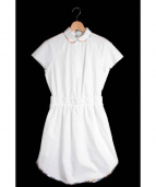CARVEN(カルヴェン)の古着「 レイヤード風シャツワンピース」|ホワイト