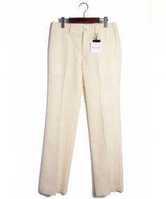 COMME des GARCONS(コムデギャルソン)の古着「 シルク混ストレートパンツ」|アイボリー