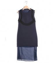 NEILBARRETT(ニールバレット)の古着「 ボンディングロングワンピース」|NAVY