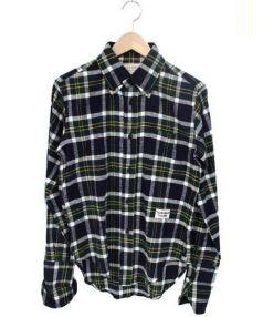 The FRANKLIN TAILORED(ザ・フランクリンティラード)の古着「チェック柄BDシャツ」|グリーン