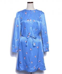 SEE BY CHLOE(シーバイクロエ)の古着「フラワープリントワンピース」 ブルー