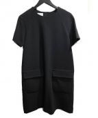 SARAH&BRED(サラアンドブレット)の古着「FRONTPOCKETDRESS」|ブラック