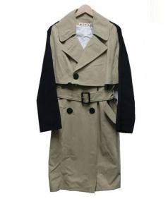 MARNI(マルニ)の古着「袖素材切替トレンチコート」|L.BEIGE