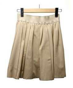 Designers Remix Charlotte Eskildsen(デザイナーズリミックス)の古着「レザーフレアスカート」|ベージュ