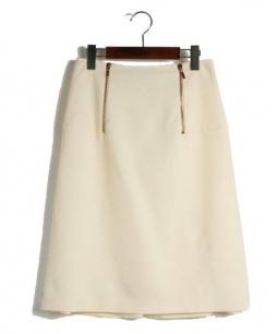 CEDRIC CHARLIER(セドリックシャルリエ)の古着「Aラインスカート」|アイボリー