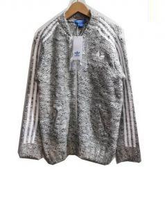 adidas originals(アディダスオリジナル)の古着「ニットトラックジャケット」|グレー