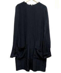 MIUMIU(ミュウミュウ)の古着「シルクワンピース」 ブラック