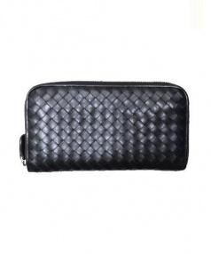 BOTTEGA VENETA(ボッテガベネタ)の古着「ラウンドファスナー財布」 ブラック