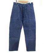 The FRANKLIN TAILORED(フランクリンテーラード)の古着「ヘリンボーンペインターデニムパンツ」 ブルー