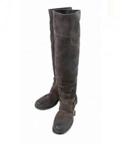 PRADA(プラダ)の古着「スエードロングブーツ」|ブラウン