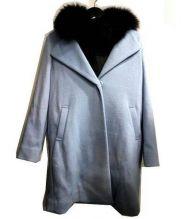 VICKY(ビッキー)の古着「ダウンベストセットコート」 ブルー×ブラック