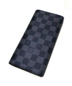 LOUIS VUITTON(ルイ・ヴィトン)の古着「ポルト・フォイユ ブラザ/長財布」|グラフィット(ブラック)