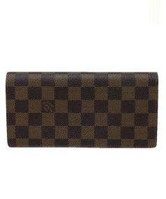 LOUIS VUITTON(ルイ・ヴィトン)の古着「ポルトフォイユ・プラザ/長財布」|エベヌ(ブラウン)