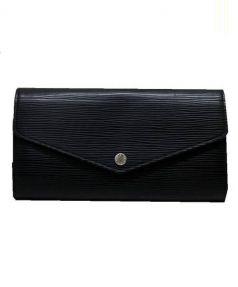 LOUIS VUITTON(ルイ・ヴィトン)の古着「長財布」 ブラック