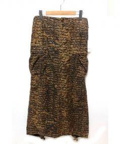 beautiful people(ビューティフル ピープル)の古着「タイガーカーゴロングタイトスカート」|ブラウン