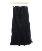 JUNYA WATANABE COMME des GARCONS(ジュンヤワタナベ コムデギャルソン)の古着「ラインジャージロングスカート」|ブラック