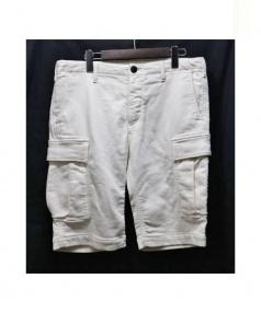 1piu1uguale3(ウノピゥウノウグァーレトレ)の古着「スウェットデニムカーゴショーツ」|ホワイト