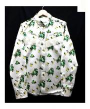 TOGA PULLA(トーガ プルラ)の古着「フラワープリントシャツ」 ホワイト