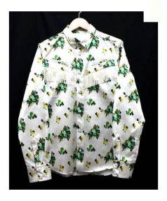 TOGA PULLA(トーガ プルラ)の古着「フラワープリントシャツ」|ホワイト