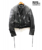 HAIDER ACKERMANN(ハイダーアッカーマン)の古着「BIKER JACKET/バイカーレザージャケット」|ブラック