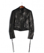 HAIDER ACKERMANN(ハイダーアッカーマン)の古着「BIKERJACKET レザー ライダース ジャケット」|ブラック