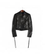 HAIDER ACKERMANN(ハイダーアッカーマン)の古着「ライダースジャケット」 ブラック