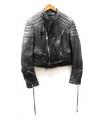 HAIDER ACKERMANN(ハイダーアッカーマン)の古着「BIKERJACKET/バイカージャケット」|ブラック