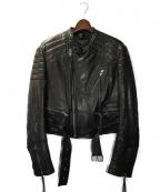HAIDER ACKERMANN(ハイダーアッカーマン)の古着「BIKERJACKET」 BLACK