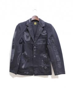 HUMANMADE(ヒューマンメイド)の古着「カバーオール/HONESTBOY」|ブラック